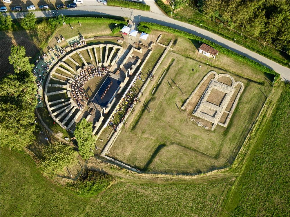 Lo spettacolo al sito Archeologico